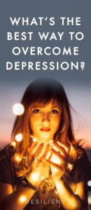 """If you're depressed and looking for a way to be happier, you might be wondering exactly what you should do and if there's a """"best"""" way to approach everything. What's the best way to overcome depression?"""