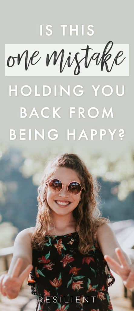 Believe it or not, when it comes to being happy and loving your life, little things matter and even the words you use from day to day make a difference in how you see the world. Is this the one mistake holding you back from being happy?
