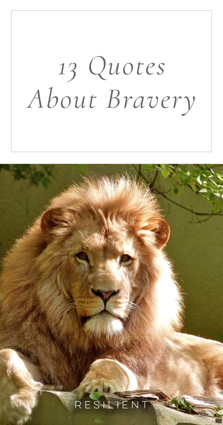Being brave isn't about never being afraid but taking action in spite of your fear. Here are 13 quotes about bravery to inspire you to be a little braver today.