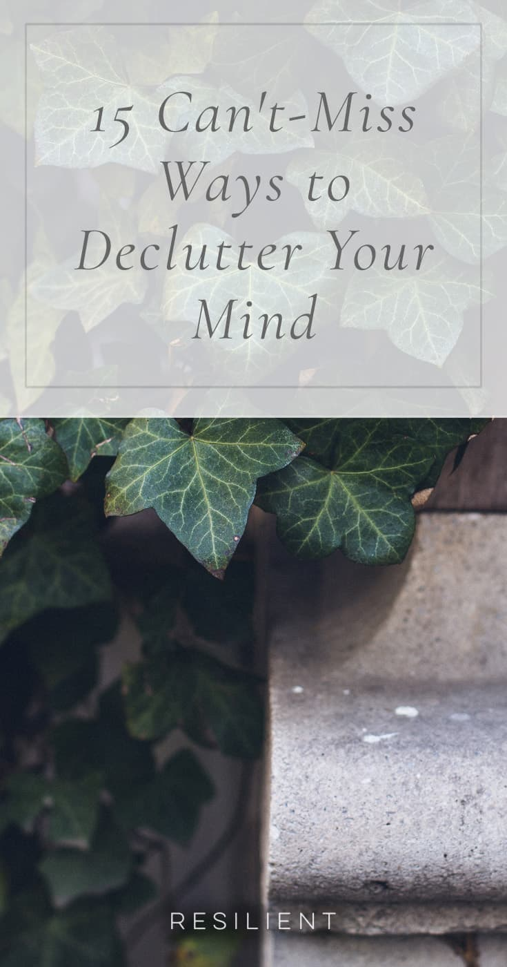 The world of stresses and worries and errands and projects and noise that we must all endure inflicts upon us a mind full of clutter and chaos. A mind that sometimes cannot find the calm that we so desperately seek. You may have heard about decluttering your home, but have you heard of decluttering your mind? Here are 15 can't-miss ways to declutter your mind.