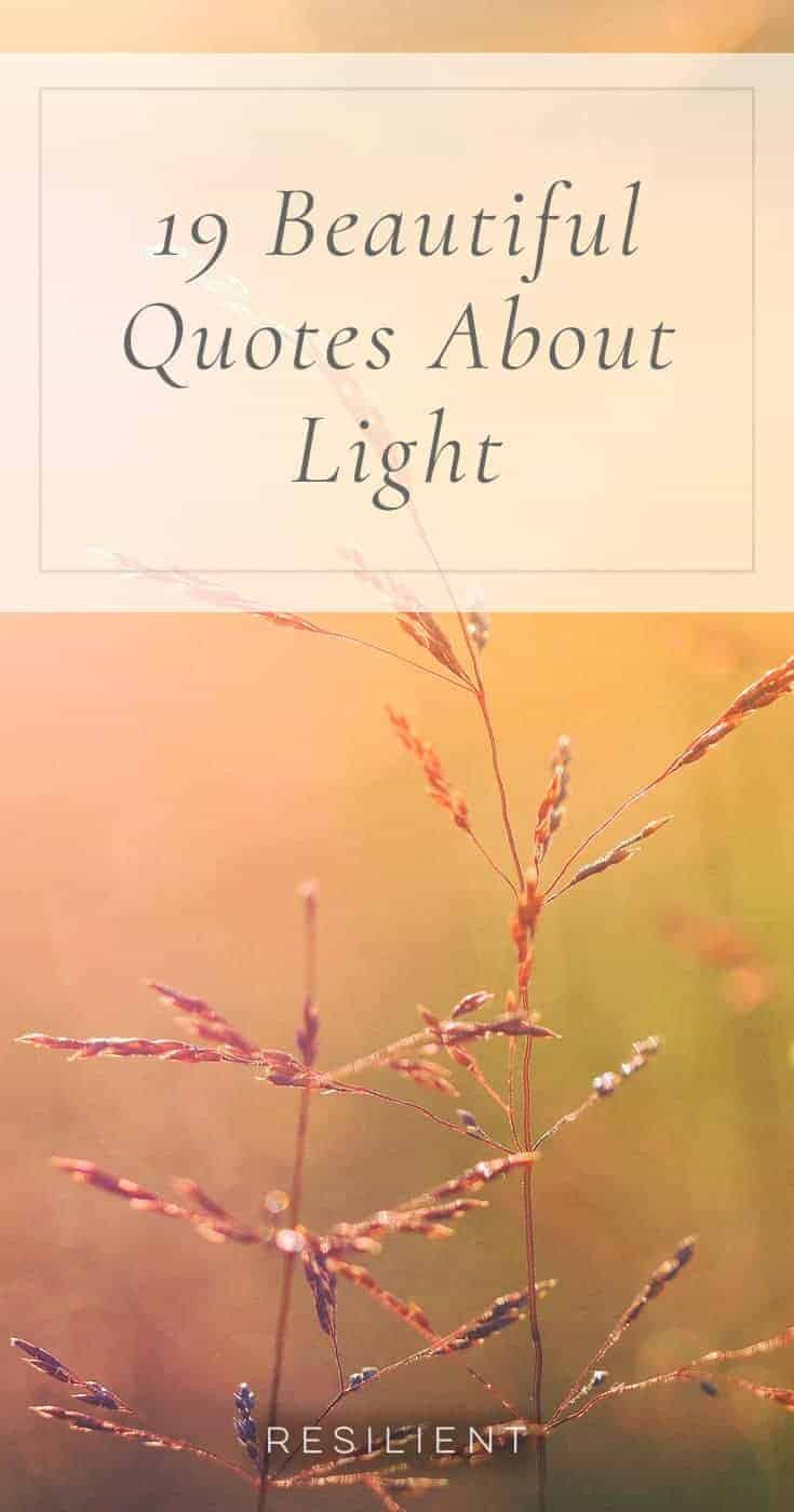 Quotes Light 19 Beautiful Quotes About Light  Resilient