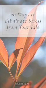 20 Ways to Eliminate Stress from Your Life