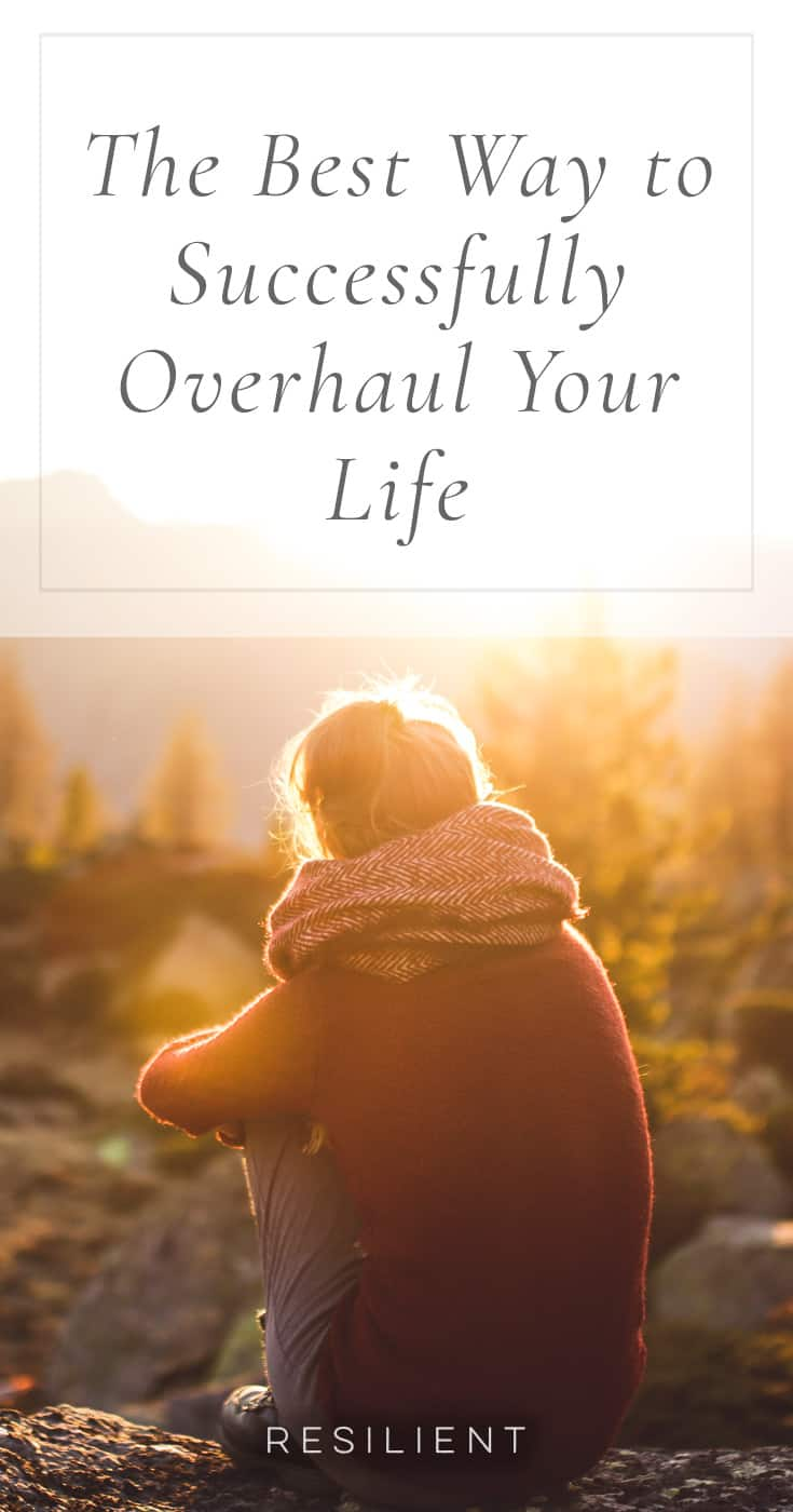 I've done it before and I'm sure many of you have as well: decided I wanted to completely change my life, from diet to exercise to productivity habits to spending and career and family and more. I've failed in the attempt to do this at least a few times. But here is the best way to successfully overhaul your life.