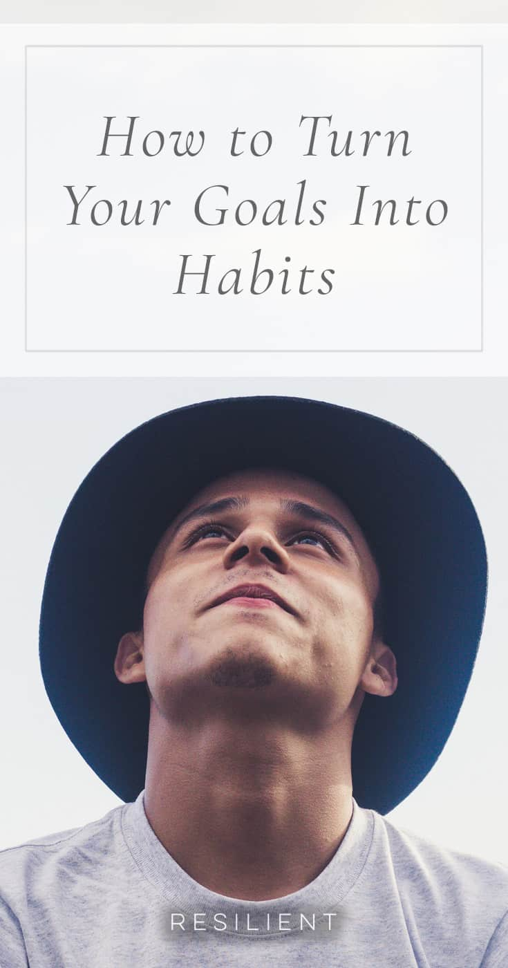 It's such a simple concept, yet it's something we don't always do. It's not exceedingly difficult to do, and yet I think it's something that would make a world of difference in anyone's life. Break your goals into habits, and focus on putting those habits into autopilot. Here's how to turn your goals into habits.