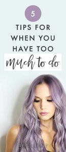 Too much to do, not enough time. This is a perpetual problem for a lot of people, but especially during the holiday season or transition periods like moving, starting school or a new job, etc. Things tend to pile on top of our already busy lives. But no matter what time of year it is, the problem is the same: our list of tasks is neverending, and our days are too short. Here are 5 tips for when you have too much to do.