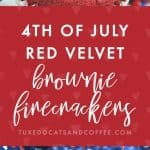 4th of July Brownies Firecrackers