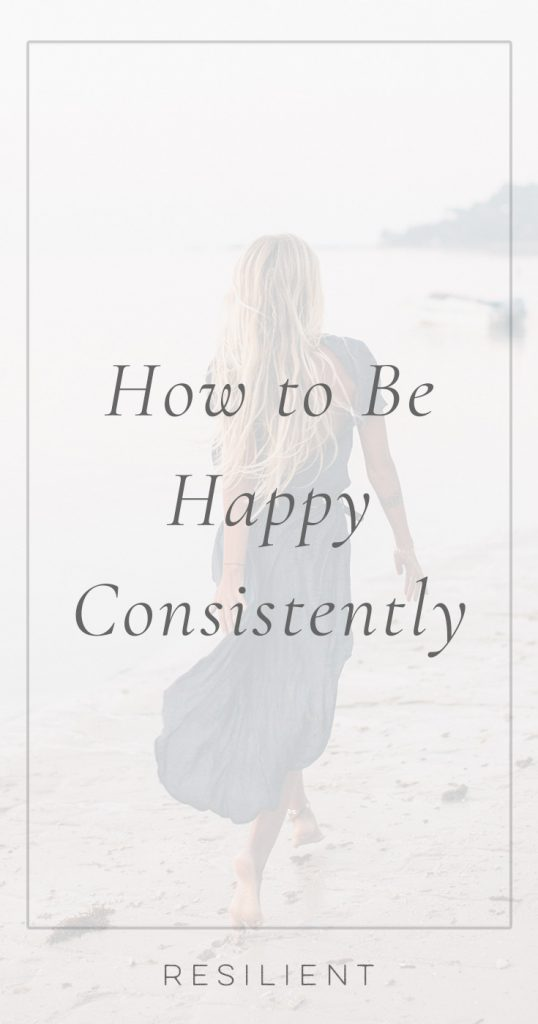 Be Happy Consistently