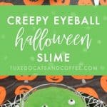 Creepy Eyeball Halloween Slime