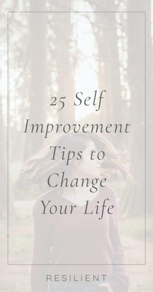 25 Self Improvement Tips